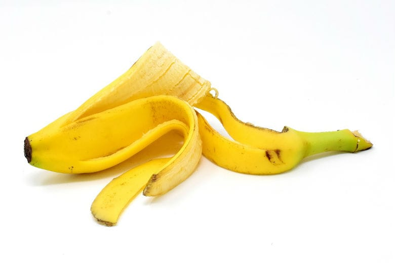 une peau de banane